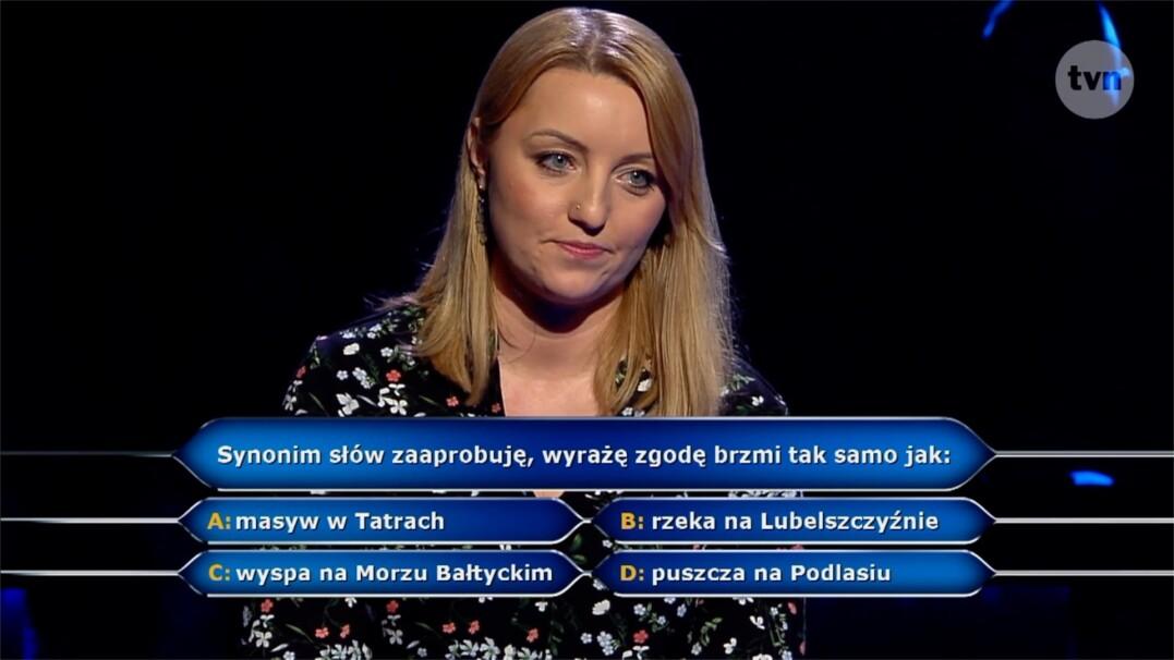 """Pytanie z """"Milionerów"""" o synonim za 125 tysięcy złotych"""