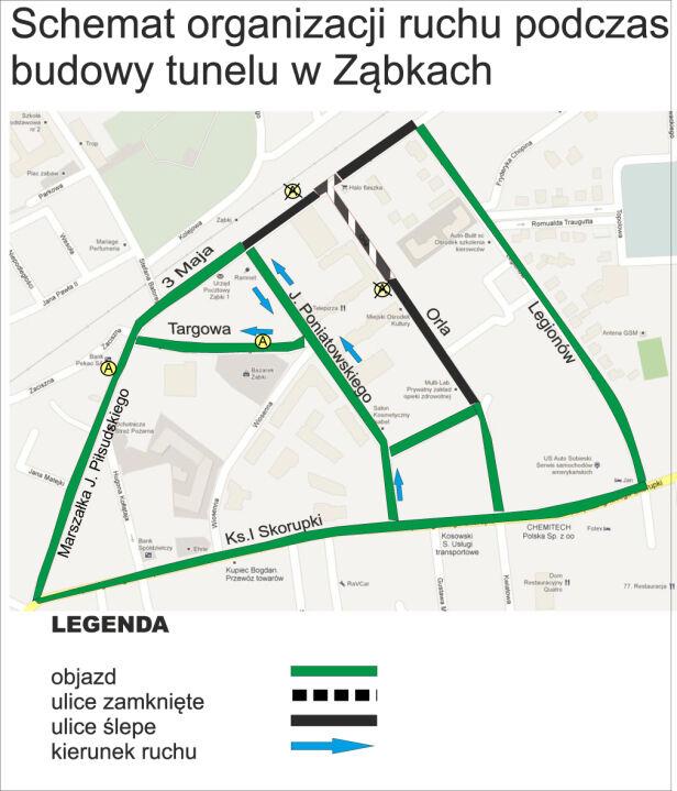 Objazd w Ząbkach zabki.pl