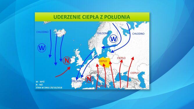 Układy, które będą kształtować nam pogodę