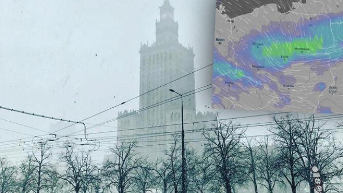 Śnieżyca w Warszawie, 106 km/h w Krakowie. <br />Przed nami okres pogodowej sinusoidy
