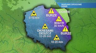 Warunki drogowe w sobotę 26.09